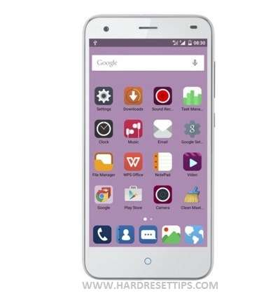 How to reset a ZTE phone Blade S6 Plus screen password-unlock or